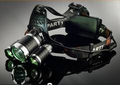 5000LM★XM-L T6CREE社LEDヘッドライト+充電池2本/RJ-3000