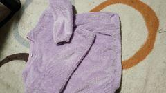 ユニクロふわもこ・140薄紫