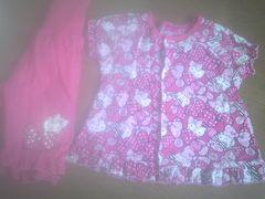 ◆美品◆キティ◆パジャマ◆上下◆100CM◆