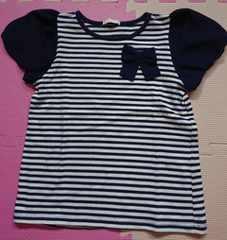 GU☆ボーダーTシャツ☆size110☆紺