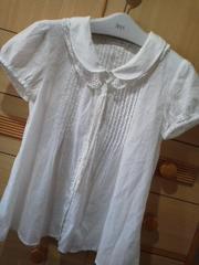 ローリーズファーム衿のレース取り外し可能 綿ブラウス/送料140円