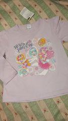 新品HUGっとプリキュア肩フリル長袖 Tシャツ定価\1404バイオレット