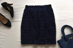 美品 ふわふわブークレーニットタイトスカート♪