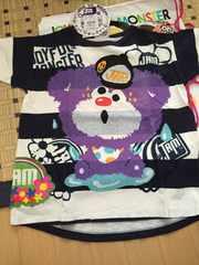 新品☆JAM ズブヌレTシャツ(130)ネイビー ☆ボーダー