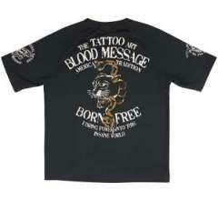 新作ブラッドメッセージ/半袖Tシャツ/黒XL/BLST-590/エフ商会/テッドマン/東洋