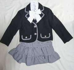 新品 ガールズスーツ 黒 キッズジュニア ブラック 110