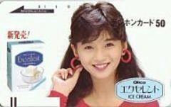 本田美奈子テレカby:グリコエクセレントアイス