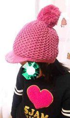 新品◆バービーBarbie◆ニット帽キャスケット◆ピンク
