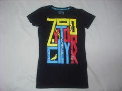 wr481 女 ZOO YORK ズーヨーク 黒 半袖Tシャツ Sサイズ ★