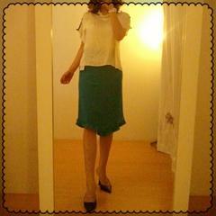 ine☆タグ付き綺麗COLOR 三角裾 爽やかスカート 2