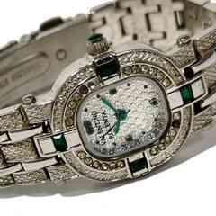 極レア 1スタ★VALENTINO ROLENTA【エメラルド】美しい腕時計