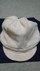 シンシアローリー帽子キャスケット★フリーサイズ未使用★手洗OK