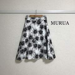 MURUA フラワーフレアスカート