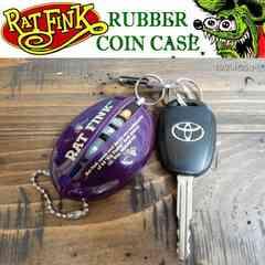 【送料無料】ラットフィンク コインケース RAT FINK ラバー製/紫