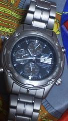 カシオLINEAGEアナデジアナクロノグラフ1/100腕時計TITANIUMチタン