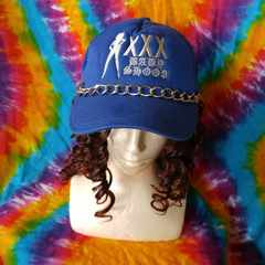 ウェッサイ!シルバーチェーン&刺繍がカッコイイ♪キャップ帽子