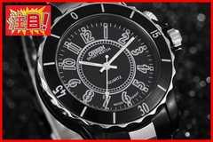 ■送料込■新品♪OHSENデザイン腕時計ブラック/黒☆超軽量