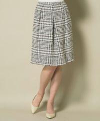 オンワード2015年春 自由区×TOURNIER(トゥルニエ) チェックツィードスカート サイズ36