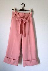 Mao Wao■ピンク ワイド フレア リボン パンツ Mサイズ