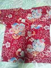 ☆新柄赤×梅づくし和柄ダボシャツ120