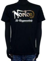新品正規Norton吸水速乾ミリタリーTシャツ黒Lロゴ刺繍