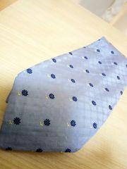 ケンゾー イタリア製シルクネクタイ★ブルー系花柄