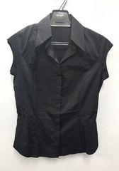 フォクシーロゴ刺繍ノースリーブシャツブラック黒レディースFOXEY NEWYORK
