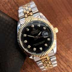 最安値スタート!ロレックス・デイトジャストタイプ★メンズ腕時計・ブラック×コンビ