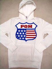 POM(ピースオンマーズ)USA 27パーカー/ホワイトM アメカジ