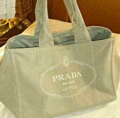 確実正規 PRADA プラダ トートバッグ ベージュ カナパ 美品