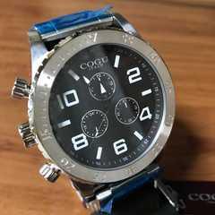 コグ COGU 流通限定モデル クロノ クォーツ 腕時計 シルバー/BK
