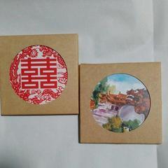 台湾製セラミック吸水マジックコースター2枚セット陶器製
