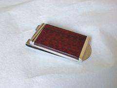 正規希少 Cartier カルティエ 立体マネークリップ ウッド×SV925コンビ 財布