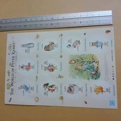 新品♪記念切手ピーターラビット大判♪(50円×10)2011年♪シールタイプ美品