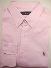 ラルフローレン 長袖ボタンダウン ドレスシャツ 17.5(44) ピンク