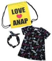 新品ANAPKIDS ワンピース&ヘアバンド&ロゴ ナップサック セット110アナップキッズ