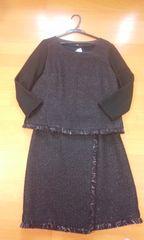 インディヴィ黒系スーツサイズ40新品