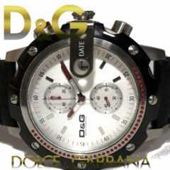 良品 1スタ ドルガバ D&G【クロノグラフ】大型 メンズ腕時計