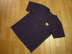Montbellモンベル メンズMコットン半袖Tシャツ蝶々 紫パープル
