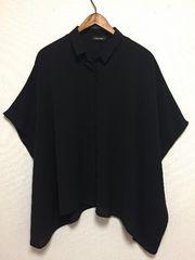 新品BLKとろみシャツゆるテロZARAVICKY系カジュアルモード