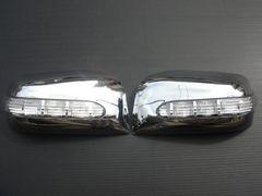 日産LEDウィンカーミラーカバー セレナ エクストレイル ラフェスタ ムラーノ クローム