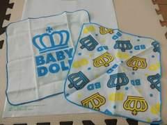 ♪新品 BABYDOLL 新生児用 ガーゼタオル2枚♪