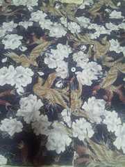 ☆新柄紺×鳳凰と白牡丹柄ダボシャツ130
