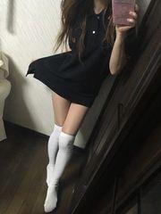 ポロワンピ黒