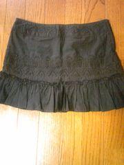 ブラックミニスカート刺繍スパンコール美品