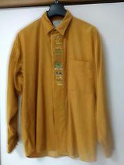 Lサイズ コーデュロイ刺繍入りシャツ レタパ510