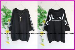 新作◆大きいサイズ4Lブラック◆袖開きバックル付◆背ロゴパーカーチュニ