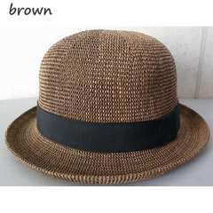 帽子 ボーラーハット ストローハット サーモ素材 59cm