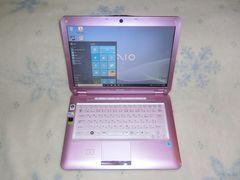 ピンク可愛VAIO Core2Duo2.4G/320G/Win10/ブルーレイ/地デジ_e04