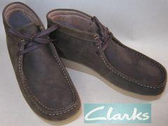 クラークスCLARKS新品PADMORE�Uミッドカット ブーツ63370us10